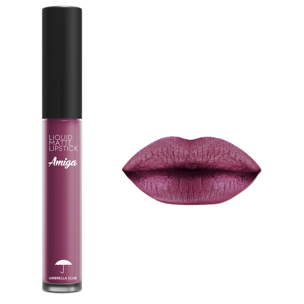 Liquid Matte Lipstick AMIGA - Umbrella Club Matte Purple ...
