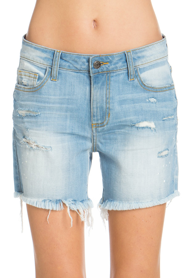 Distressed Boyfriend Shorts - Umbrella Club
