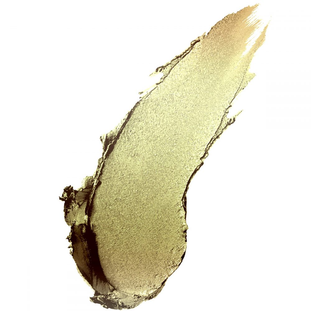 """ORBIT"" A Tarnished Gold Glitter Lipstick. A Green Chrome Liquid Metallic Lipstick"